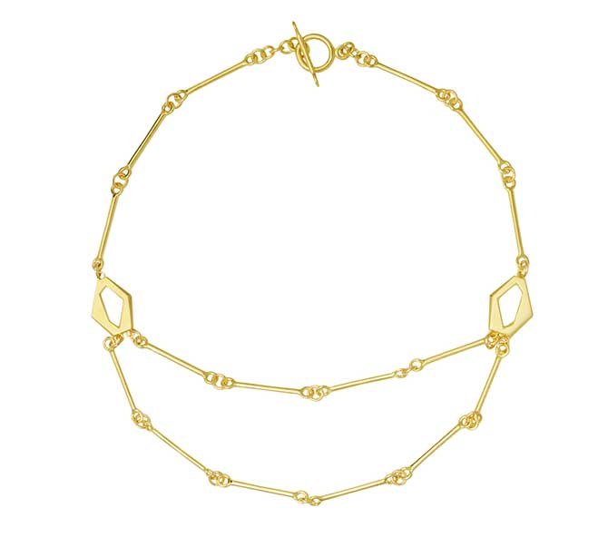 Rush Jewelry Icon Victoire signature link necklace