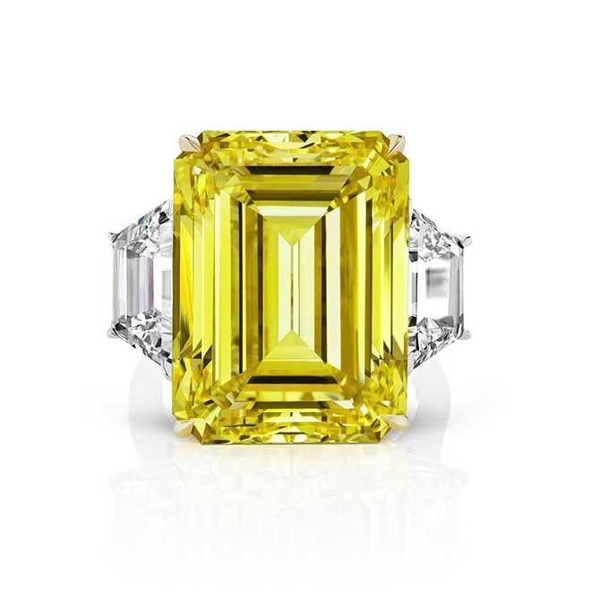 Scarselli yellow diamond ring