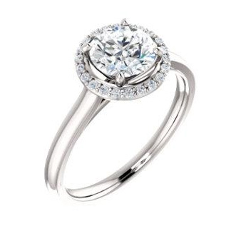Sparkle Cut halo ring