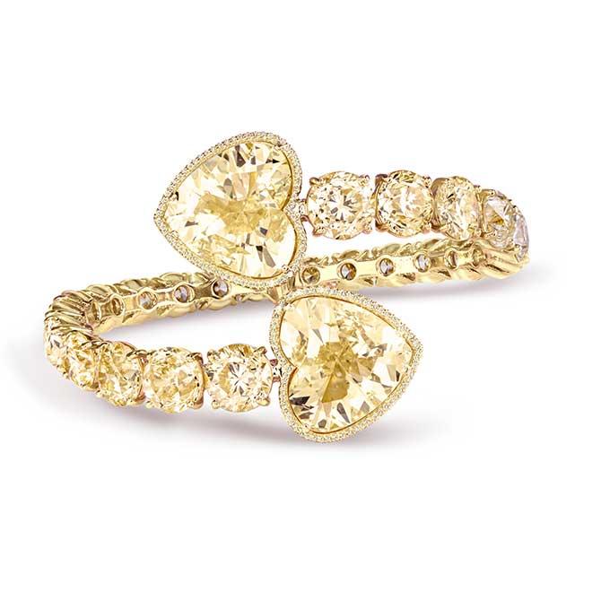 VTse yellow diamond bracelet