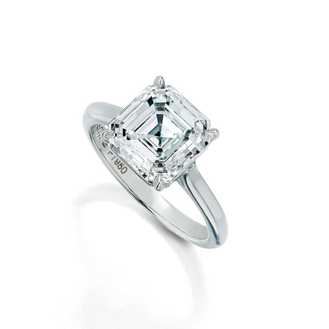 Wempe Asscher cut diamond solitaire