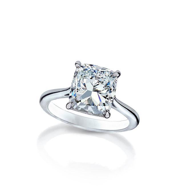 Wempe cushion cut diamond solitaire ring