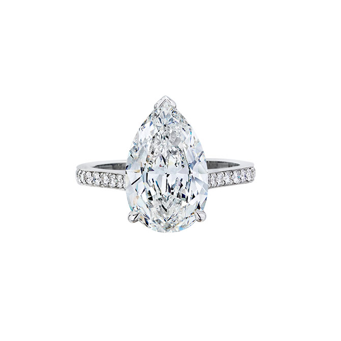 Wempe pear shape engagement ring