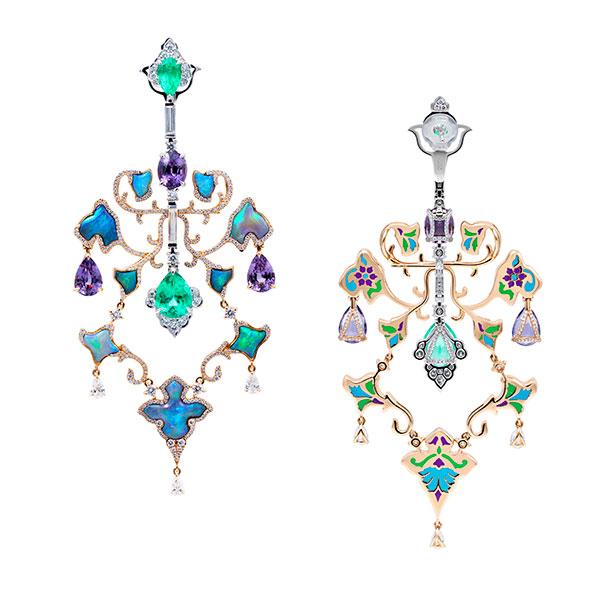 Alessio Boschi's Fabulous Two-Sided Fresco Earrings - JCK