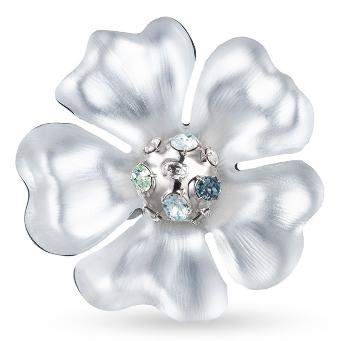 alexis bittar liquid PVD flower pin