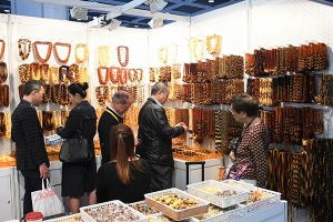 Amber at the Hong Kong Jewellery Show
