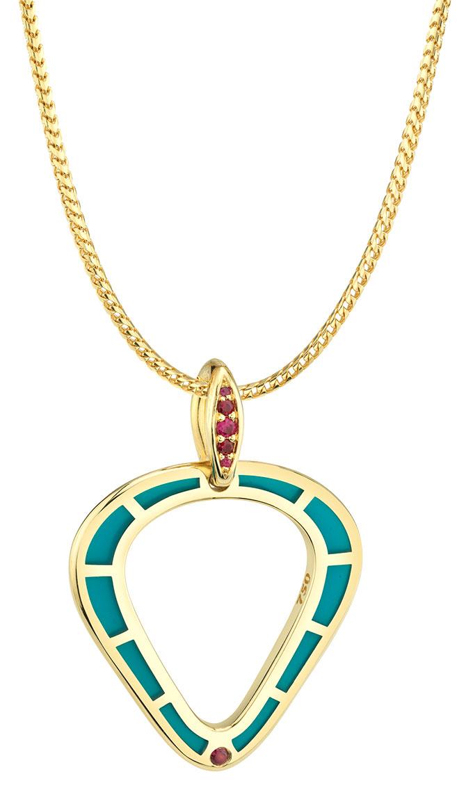 andy lif enamel pendant