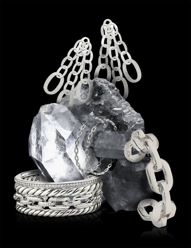 chain link silver jewelry