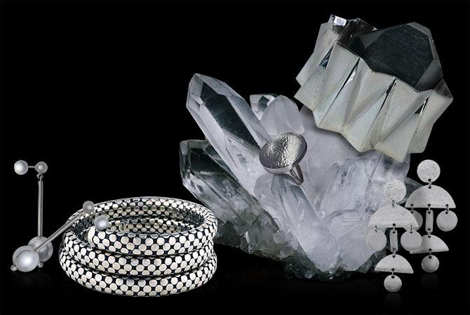 geometric silver jewelry