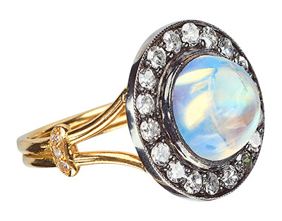 moonstoned moonstone ring