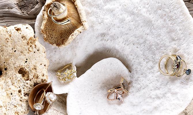 organic bridal rings