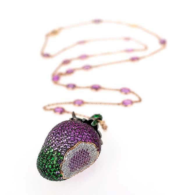 Gemstone necklace by Alexander Laut