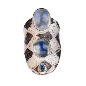 Atelier Zobel moonstone and diamond ring