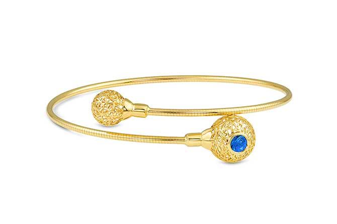 Baiyang Qiu sapphire bangle bracelet