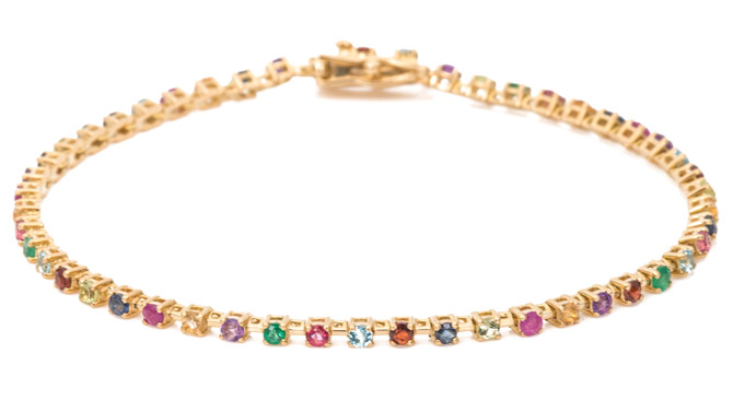 Ariel Gordon Candy Crush tennis bracelet