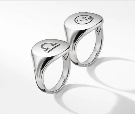 David Yurman engraved rings