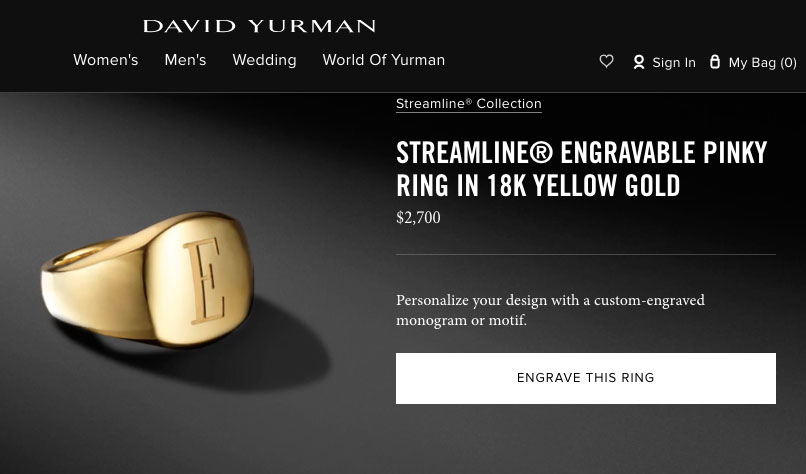 David Yurman engravable tool