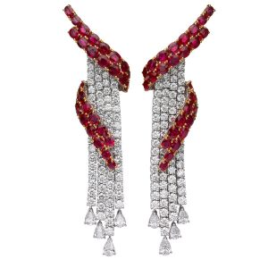 Butani ruby and diamond Red Carpet earrings