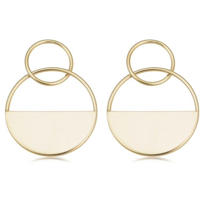 Fremada circle earrings