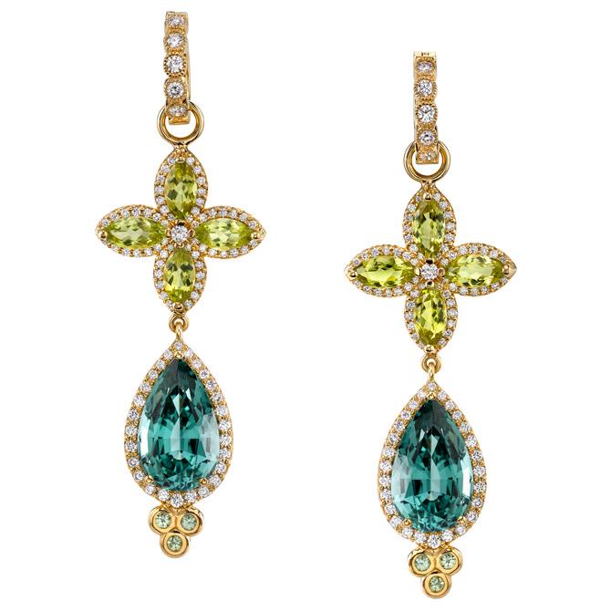 Erica Courtney Peacock earrings