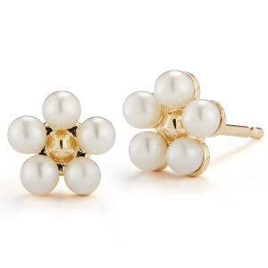 Barbela mini pearl flower earrings