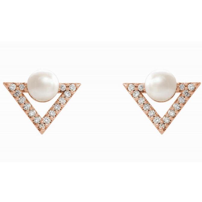 Stuller freshwater pearl earrings