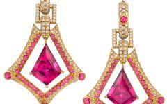 Erica Courtney Queen Ann rubellite earrings