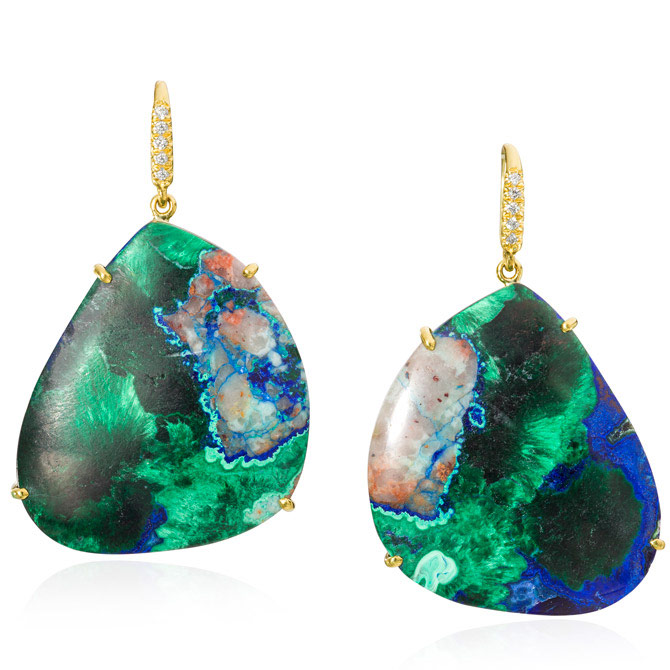 Lauren K azure malachite earrings