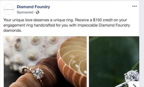 Diamond Foundry Facebook ad