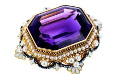 Faerber Collection siberian amethyst brooch
