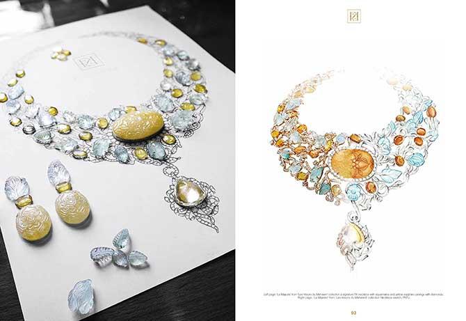 Farah Khan book La Majeste necklace spread