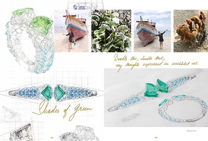 Farah Khan book doodle spread