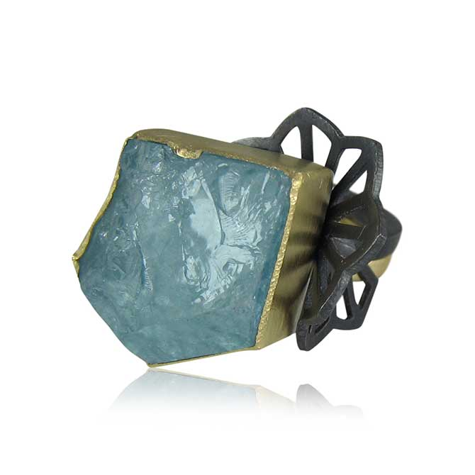 Karin Jacobson double fan ring