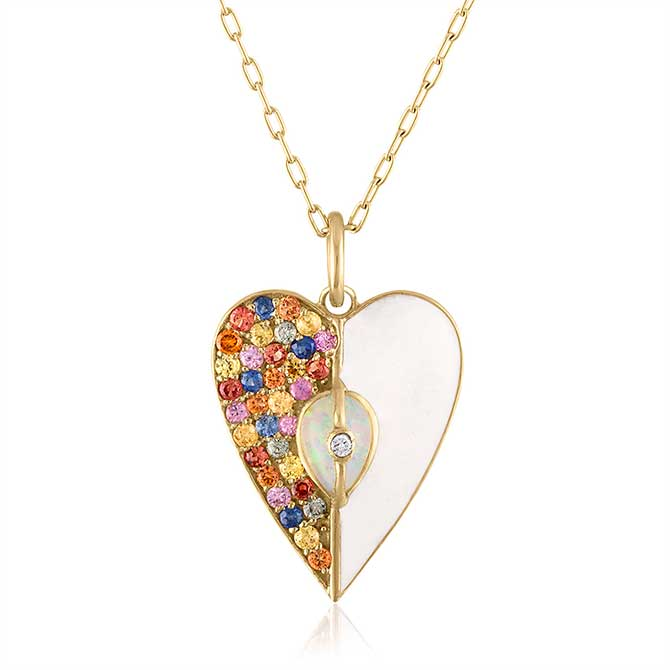 Loriann Unity heart necklace