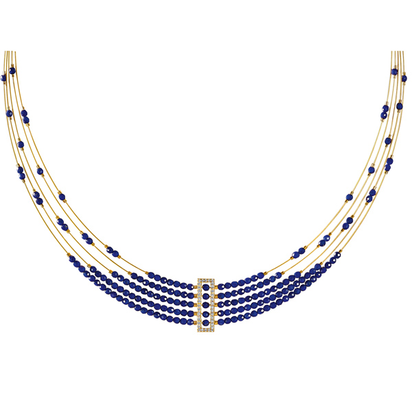 Bernd Wolf lapis collar necklace