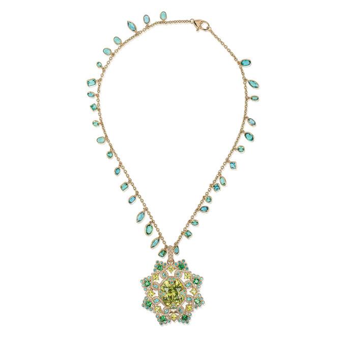 Erica Courtney Shakti Mandala necklace