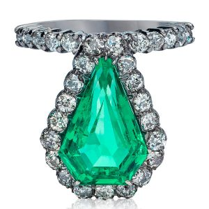 Mindi Mond emerald shield ring