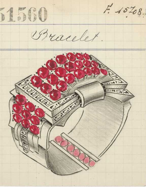 Van Cleef Arpels bracelet illustration