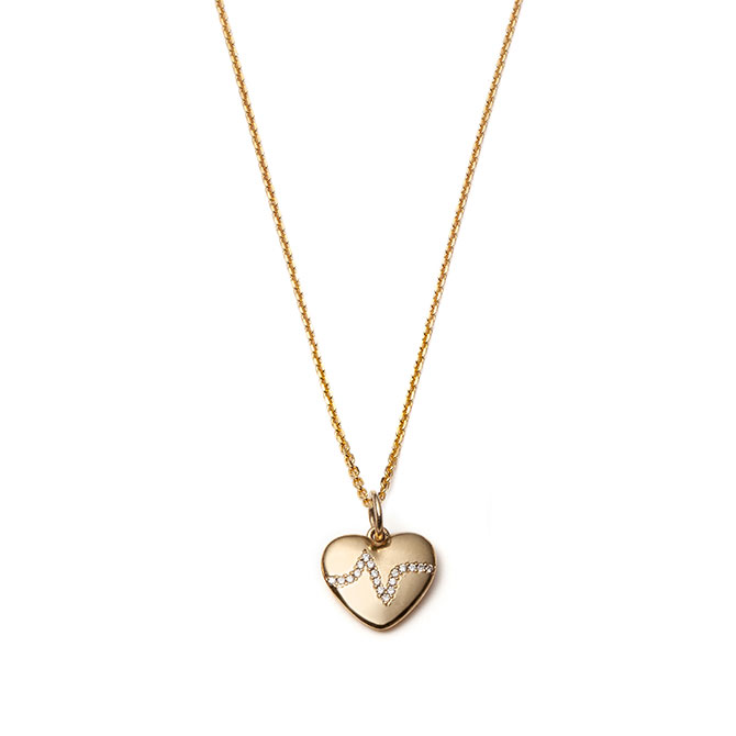 With Love Darling Heartbeat charm