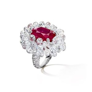 de Grisogono ruby ring with briolettes