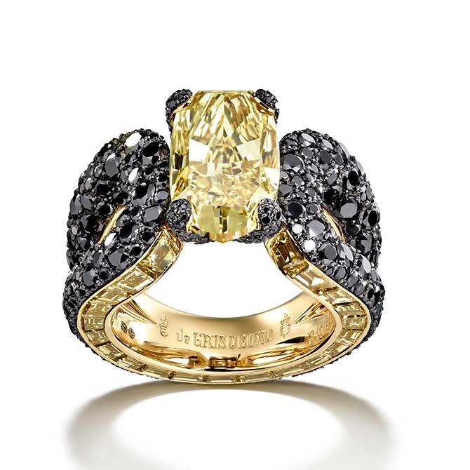 de Grisogono yellow diamond ring