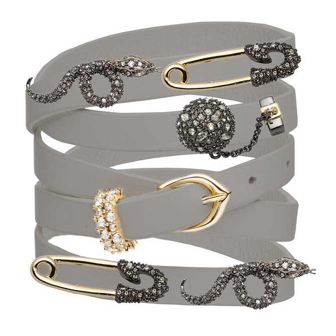 Alexis Bittar leather wrap bracelets