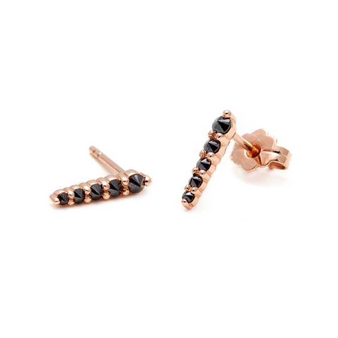Anna Sheffield black diamond earrings