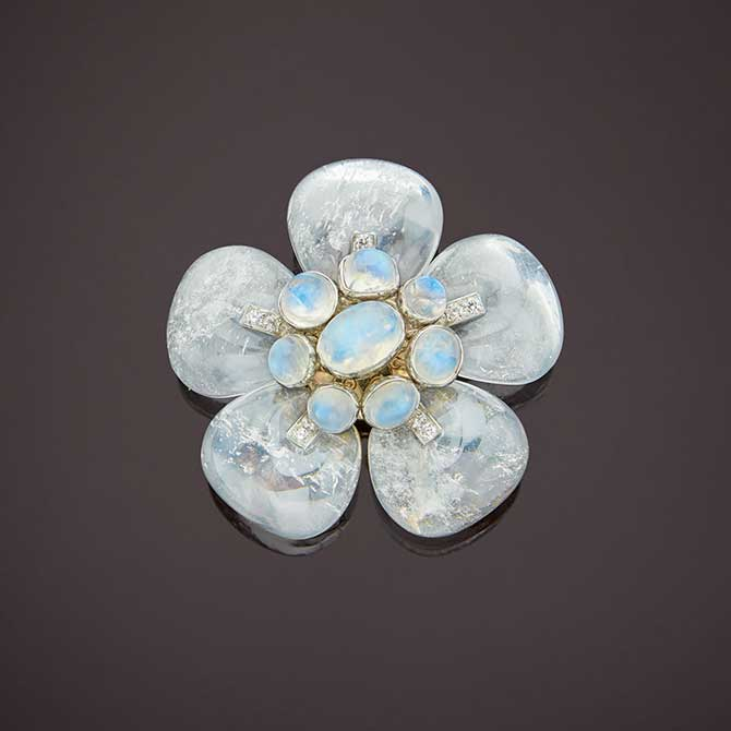 Belperron Windsor Flower brooch