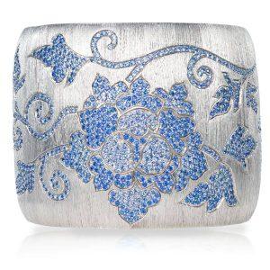 VTse sapphire flower bracelet