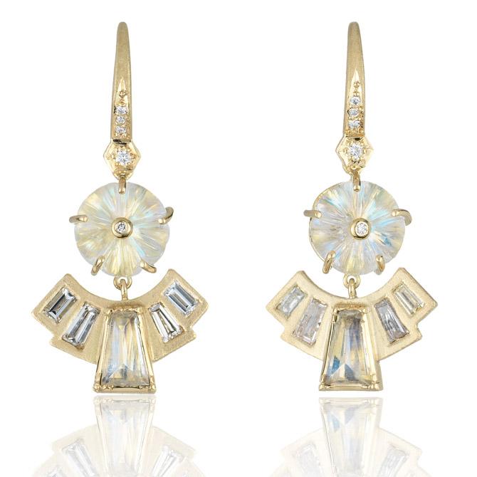 Brooke Gregson Blossom moonstone earrings