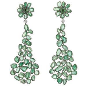 Muzo emerald earrings