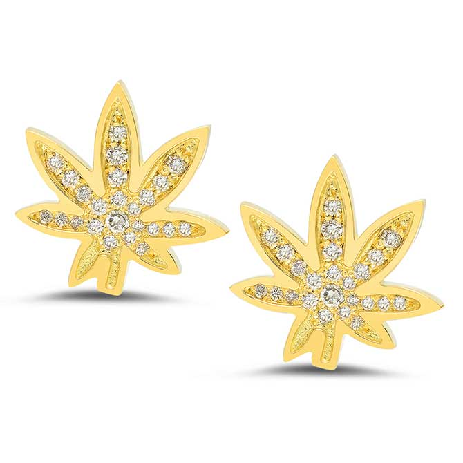 Established Cannabis stud earrings