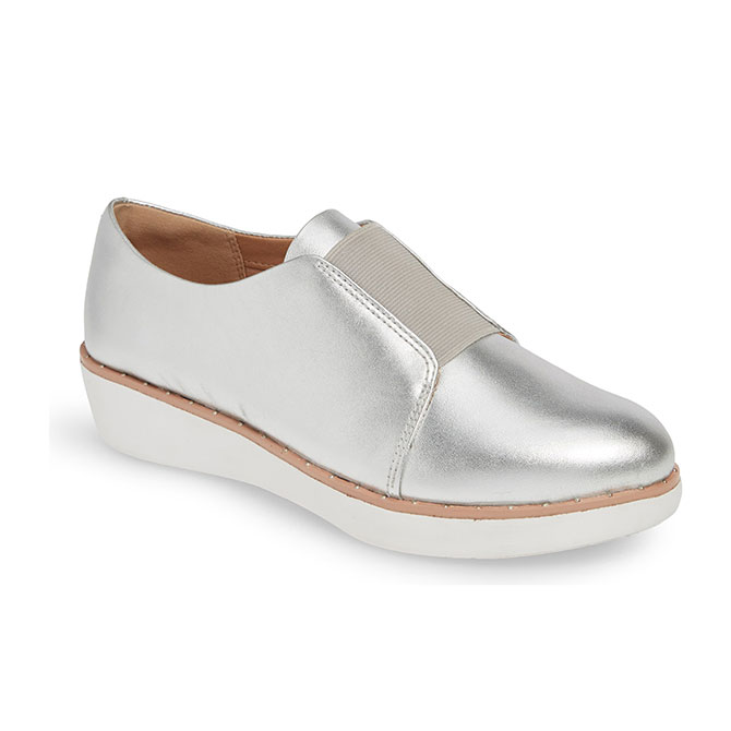 Chaussure Fit Flop argent