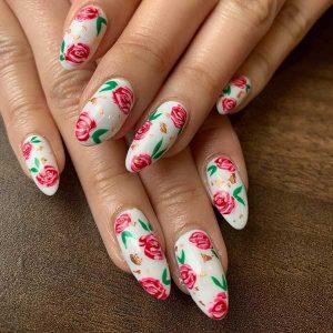 Gelhiigh rose nails